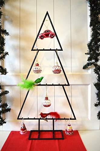 Deko Baum Dekobaum Tanne schwarz XL ca. 76cm Tannenbaum Metall Weihnachtsdeko X-Mas Advent Winter Weihnachten Gestell