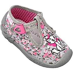 ARS Botas para Niñas Zapatillas Estar por casa per Nina Zapatos Bebe Niña Plantilla de Cuero Primeros Pasos 20 21 2223 24 25 (20 EU, Flores - Gato)