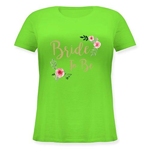 Shirtracer JGA Junggesellinnenabschied - Bride to Be - Lockeres Damen-Shirt in Großen Größen mit Rundhalsausschnitt Hellgrün