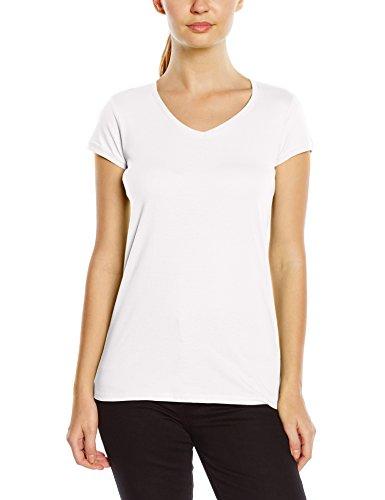 Stedman Apparel Megan (V-neck)/St9130 Premium - T-shirt - Femme Blanc - Blanc