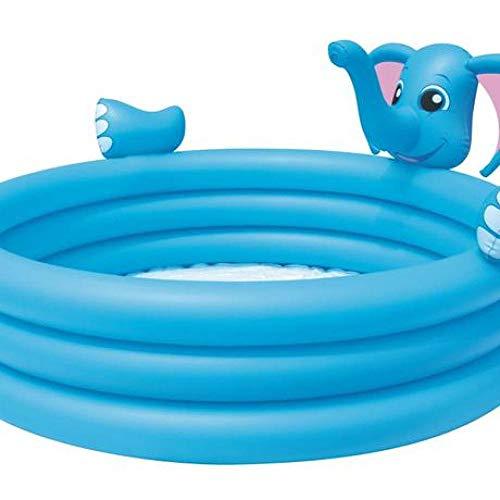 WuShiBin Aufblasbarer Pool Aufblasbarer Planschbecken Badewannensitz Kinderaufblasbares Becken Faltbares Erwachsenes Ring-Brunnen-Becken des Baby-Elefanten-DREI