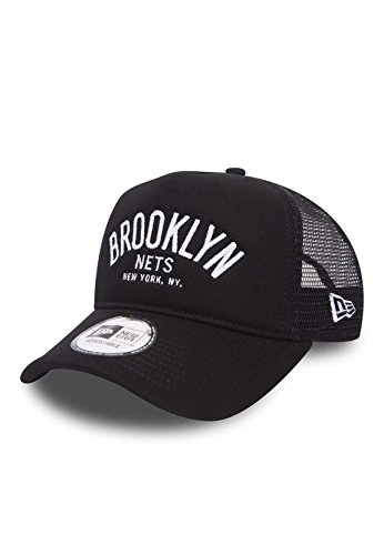 New Era Chainstitch Trucker Adjustable NY BROOKLYN NETS Schwarz, Size:ONE SIZE (Era New Hats Trucker)