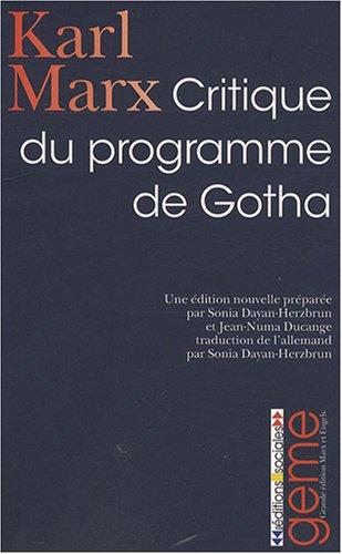 Gotha-programm (Critique du programme de Gotha)