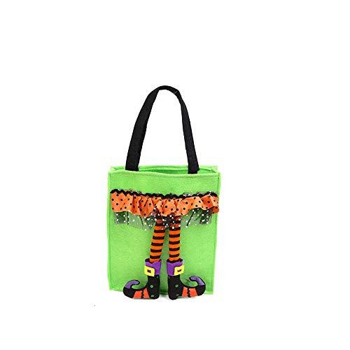 Halloween-Taschen Tunnelzug Handtaschen Wiederverwendbare Grocery Süßigkeit Trick or Treat Taschen Non-Woven-Gewebe-Partei-Bevorzugung Dekoration Beutel ()