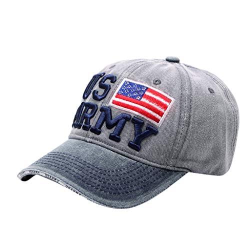 Chapeau de Coton Femme Casquette de Baseball Motif de Broderie Chapeaux de soleil Hip Hop Chapeau Ete Magnifique Bonnets Pour Voyage Sporte Loisir (Gris)