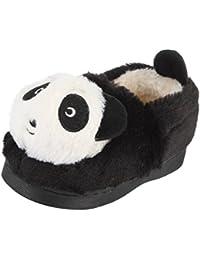 La Vogue Zapatos Bebé Niño Zapatilla de Invierno Casa 3D Panda Animal Cartoon