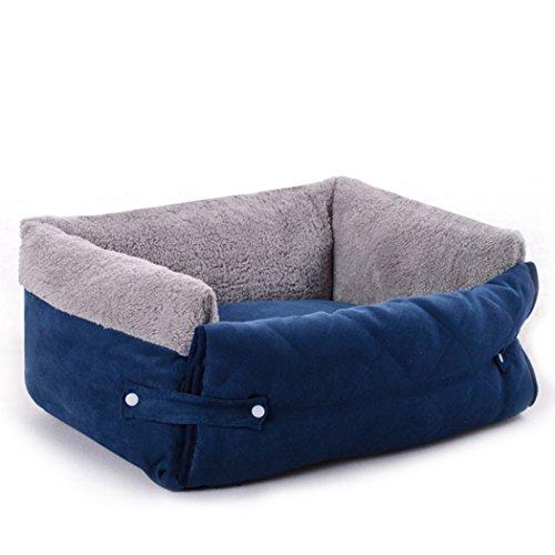 wandlee-in PET Sofa Matte Bett, Pets Weich Waschbar selbst Erwärmung rechteckig Kuschelhöhle Couch für Hunde und Katzen Rampe Trampolin