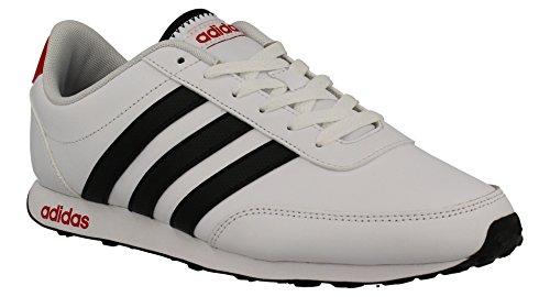 adidas V Racer, Chaussures de Tennis Homme Blanc Cassé (Ftwbla/negbas/escarl)