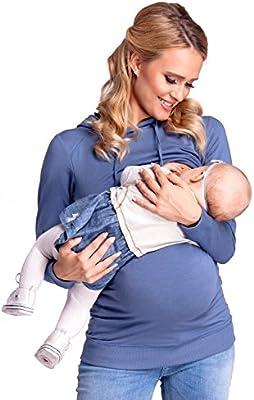 Happy Mama. Para mujer sudadera capucha panel de la lactancia top premamá. 272p