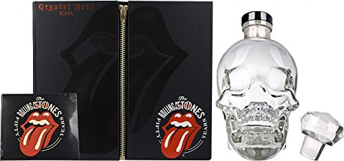 Rolling Stones Gift Pack Crystal Head Vodka 70 cl