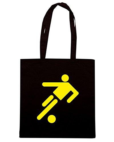 T-Shirtshock - Borsa Shopping WC1171 Logo Calcio Maglietta Nero