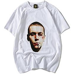 Pizoff Herren Hip Hop Baumwolle 3D Druck T-Shirt Rauchen