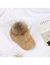 Flowerrs Sombrero cálido Inicio Sombrero Hembra otoño e Invierno Gorra Pana  cálida Marea Cap Gorra de ab03c5c4c5a