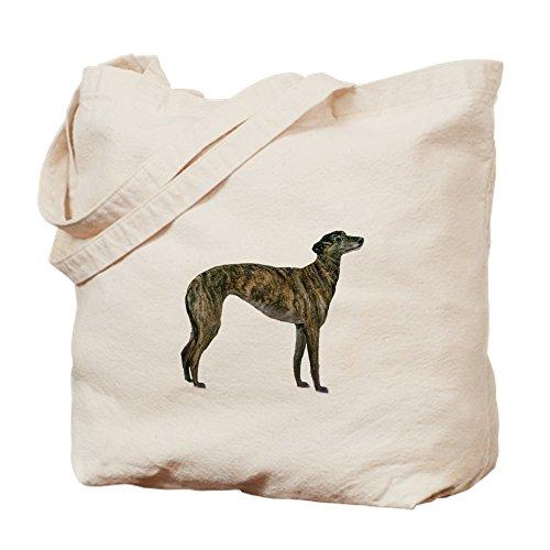 Bing Windhund (Brindle)–Leinwand Natur Tasche, Reinigungstuch Einkaufstasche (Brindle Natürlichen)