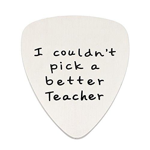 ouldn 't Pick eine bessere Teacher Gitarre Plektrum Graduation Back to School Edelstahl (Lehrer Wahl)
