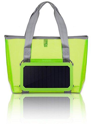 Transparente Tasche solarbetriebene Ladegerät Schulter Strandtasche Grün