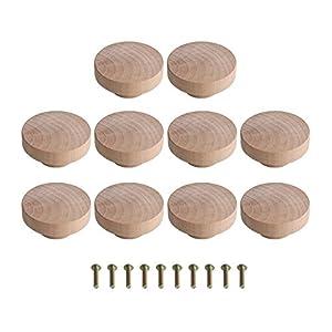 Yibuy Superba Möbelknauf und Schubladen, Holz, 50 x 25 mm, 10 Stück
