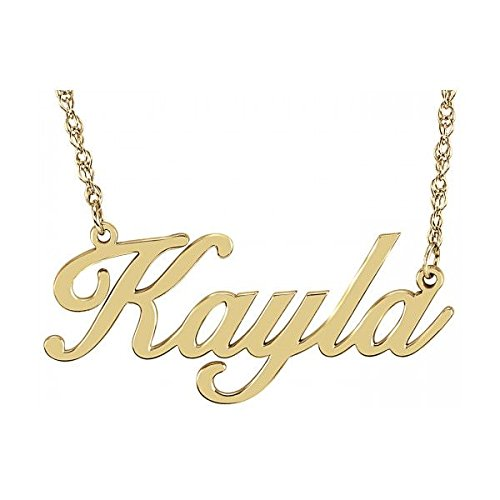 Fashion Personalized Brass Necklace Handcurved with ur Own Name (Gold, D65)