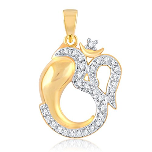 Vina Fashion Jewellery Religious Collection Gold Brass Alloy Cz American Diamond God Pendant for Men And Women Vkp1007Ga  available at amazon for Rs.132