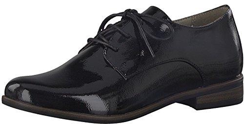 Tamaris 1-1-23308-38 Damen Schnürer, Schnürschuh, Halbschuh, Schnürhalbschuh, Sommerschuh für die modebewusste Frau schwarz (BLACK PATENT), EU 41