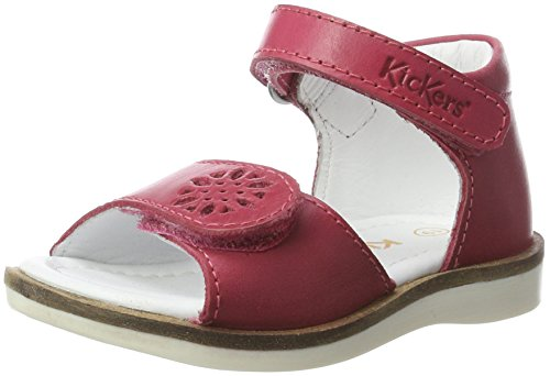 Kickers Gina, Sandales  Bout ouvert fille Pink (FUCHSIA METAL CHAIR)
