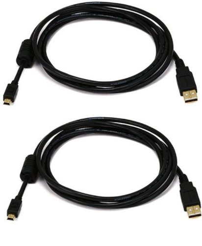 Active Pro - Extra Lang Vergoldet USB Play und Charge Kabel für Sony Playstation 3/ PS3 Controller - Länge = 3m / 9.8 Ft - AAA Products® (Ps Usb-kabel 3)