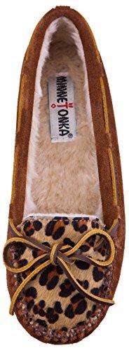 Minnetonka Leopard Cally Slipper, Chaussons Femme Motif léopard - Marron