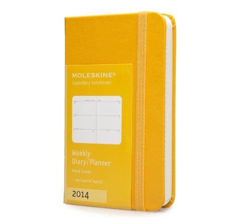 Moleskine Horizontal Yellow Orange Extra Small 2014 Weekly / Diary Planner