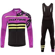Uglyfrog 2016 Manga larga Maillot+Bib Pantalones cortos Bodies Ciclismo De Hombre Verano Ropa De triatlon Transpirables Cycling Sets #37