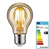 Paulmann 28522 LED Vintage-AGL Retro Leuchtmittel 6Watt Allgebrauchslampe dimmbar Glühfaden E27-Sockel Filament Gold 1.700K Goldlicht 500 Lumen