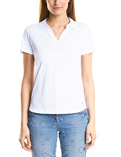 Cecil Damen T-Shirt 312080, Weiß (White 10000), X-Large Preisvergleich