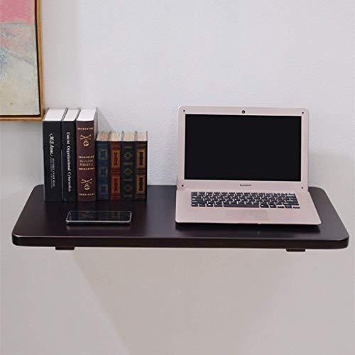 Holz Computer Schreibtisch passt zu jedem Raum Wand-Drop-Leaf Tisch Faltbare Schreibtisch Esstisch Schwarz-Braun Wand Tisch Studie Laptop Tisch Schreibtisch schwimmende Wand Rega ()