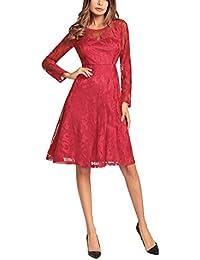 27491a4785c Changshun Kleid Explosion Modelle Frühling und Sommer New Lace Kleid Europa  und die USA Big Rock