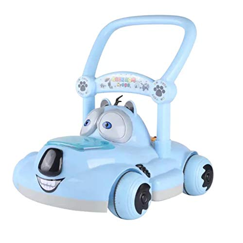 A&Dan Baby Hand Push Walker Music A + B Multifunktions-Geschwindigkeitsregler 6-18 Monate Anti-Rollover,Blue