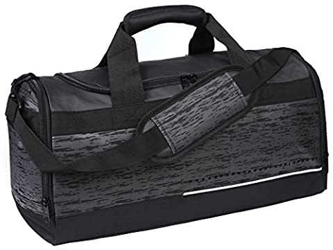 MIER Mens Holdall Gym Bag Sports Duffel Bag with Shoes Compartment for Weekender, Overnight, Carry on, 40L,
