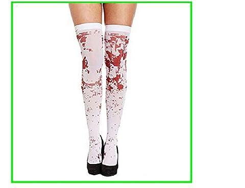 CAOLATOR accessoires L'infirmière avec le sang de la blanc chaussette / bas sanglant / halloween toussaint zombie de sang de