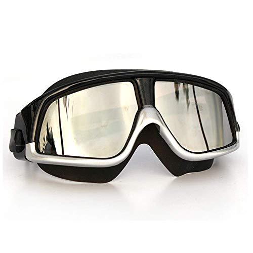 YYYJYYYJ Schwimmbrillen Gespiegelte Schwimmbrille Silicon Large Frame Swim Gläser wasserdichte Anti-Nebel Uv Brillen Männer Und Frauen Maske