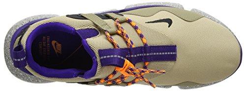Nike pocketknife DM, Scarpe da Ginnastica Uomo Beige (Linen Black/Khaki/Court Purple)