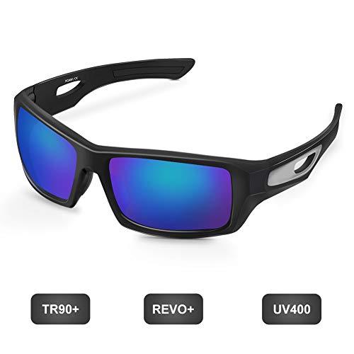 1895 Polarisierte Sportbrille Sonnenbrille für Herren und Damen Fahrradbrille Ultraleicht Golf Tennis Baseball Radfahren Laufen Fahren Angeln Brille, UV400 Schutz TR90 Rahmen