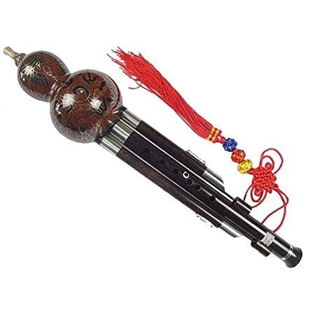 100% Handgeschnitzte Standard Hulusi – Blasinstrument Chinesische Flöte #109T
