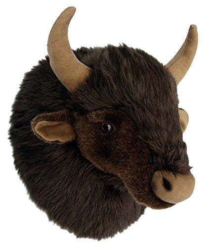 Plüschtrophäe Wasserbüffelkopf - lebensecht - XL - Plüschtier Trophäe Büffel Plüsch
