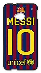 FC Lionel Messi Cases Snap on Case fits Htc One M7