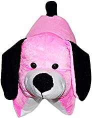 DreamVio Extra Soft Stuffed Plush Toy/Toys for Baby Girl/Baby boy/ Kids/ Gifts Soft Velvet Fabric Pink Dog Cus
