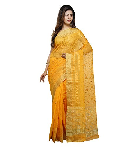 Vedika Creations Yellow Colour Supernet Saree Fancy Sari