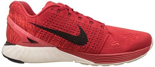 Nike Lunarglide 7 Scarpe da ginnastica, Uomo Rosso (Unvrsty Red/Blk-Sl-Brght Crmsn)