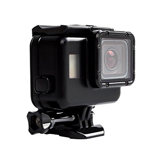 Aresh GoPro Hero 6 Hero 5 schwarz Ersatz Standard Wasserdichtes Gehäuse Fall mit Objektiv für Gopro Hero 6 Hero 5 schwarz