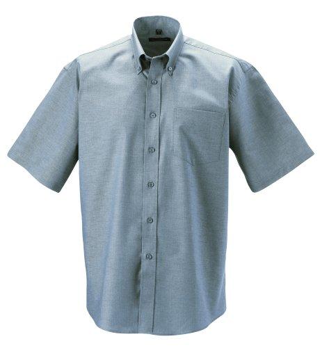 Chemise manches courtes Z933Oxford, chemise pour homme Argenté - Argent
