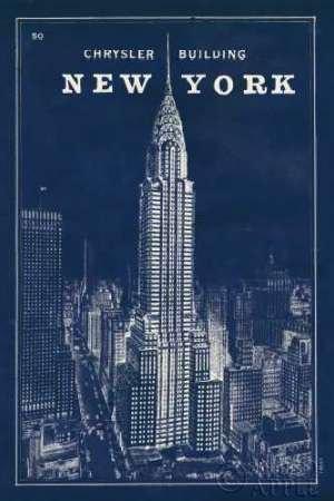Feeling at Home Feelingathome.it-LEINWANDDRUCK-Blueprint-Map-New-York-Chrysler-Building-cm118x78-poster-bild-auf-leinwand