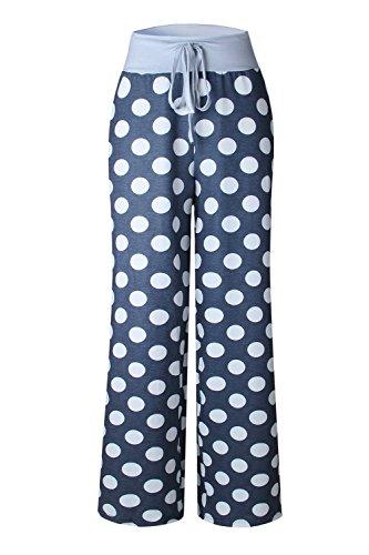 YACUN Les Pantalons De Sport Polka Dot Occasionnel Yoga Jambières Grey