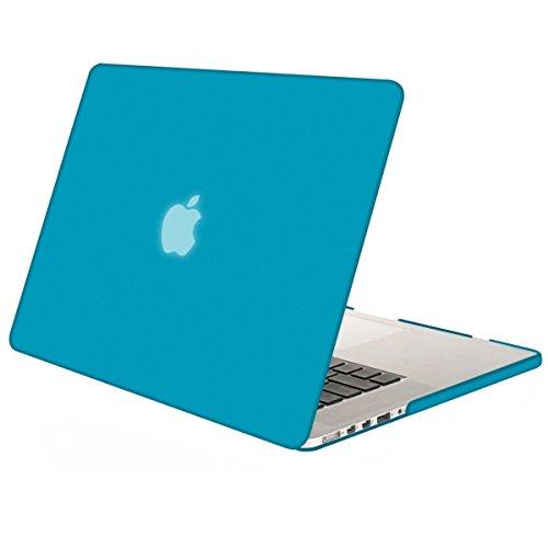 MOSISO Custodia Rigida Compatibile con MacBook PRO Retina 15 Pollici A1398(Versione metà 2015/2014/2013/Metà 2012) con Display Retina No CD-Rom,Plastic Case Cover Rigida Copertina,Blu Acqua